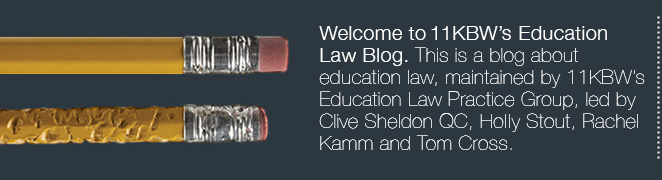 Welcome to 11KBW's Education Law Blog, and thank you for taking the time to visit us.  This is a blog about education law, maintained by 11KBW's Education Law Practice Group.